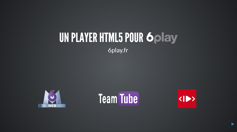 Paris Video Tech M6 presentation HTML5 player React